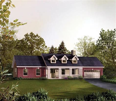 cape cod ranch house plans cape cod country ranch traditional house plan 95830