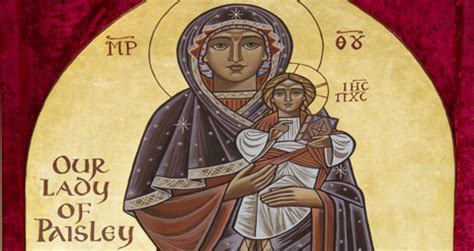 along with the gods harkins our lady of paisley icon on tour sco news