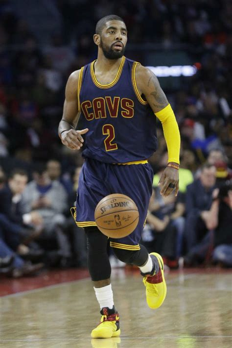 Kyrie Irving 2 Kyrie Irving Wearing A Nike Kyrie 2 Black Yellow Pe