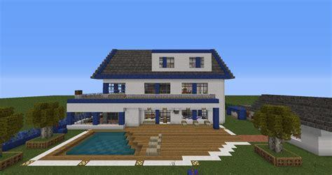 haus auf fremden grundstück gebaut moderne villa mit alarmanlage minecraft project