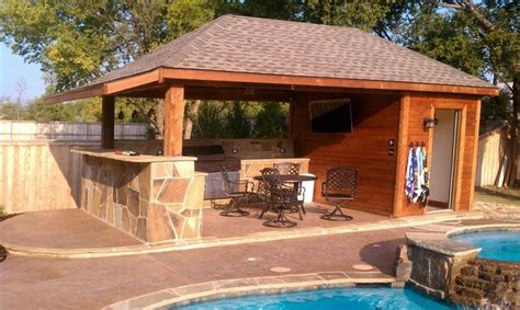 Backyard Concrete Patio Custom Outdoor Wooden Structure In Dallas Tx Dfw Custom