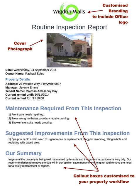 routine inspection report template getting more out of your custom pim inspection reports