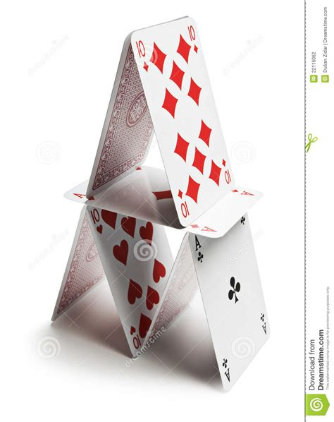 how to make a card pyramid cards pyramid stock photography image 22116062