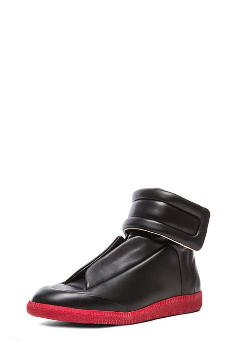 maison margiela future sneakers maison margiela future high top sneakers in black for