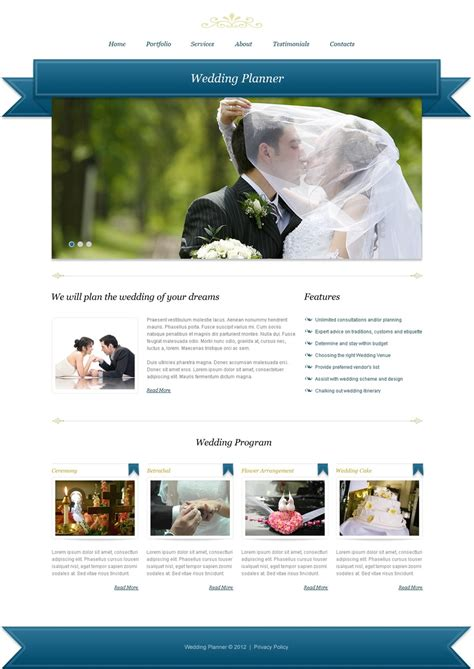 cms templates joomla templates wedding planner template