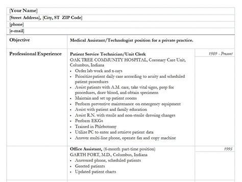 medical assistant resume medical assistant resume template
