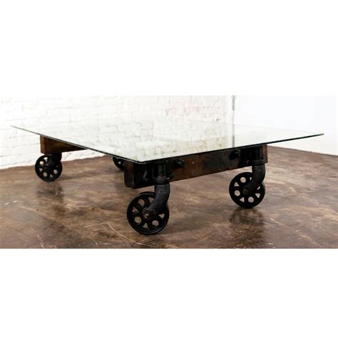 pittsburgh industrial reclaimed cast iron coffee table