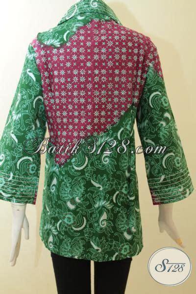 Kbt029 Kain Batik Tulis Katun Premium Motif Cantik Murah Bawahan baju batik kombinasi hijau dan merah jambu batik cap tulis dua motif til elegan batik