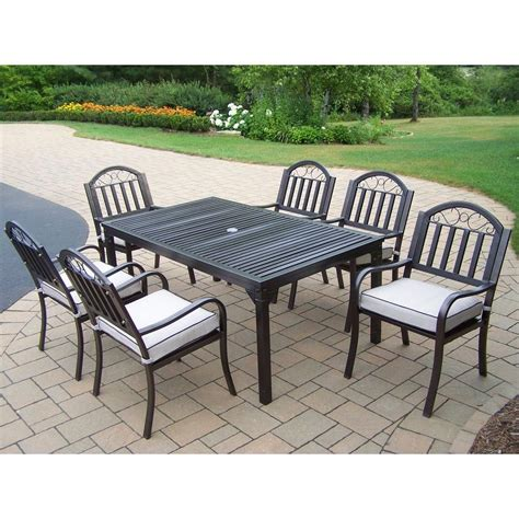 Patio Dining Sets Rochester Ny Oakland Living Rochester 7 Patio Dining Set With