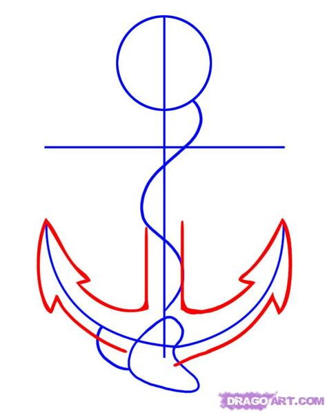 how to draw an anchor step by step tattoos pop culture