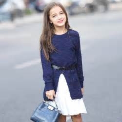 Winter long sweater dress thick prom kids clothing costumes christmas