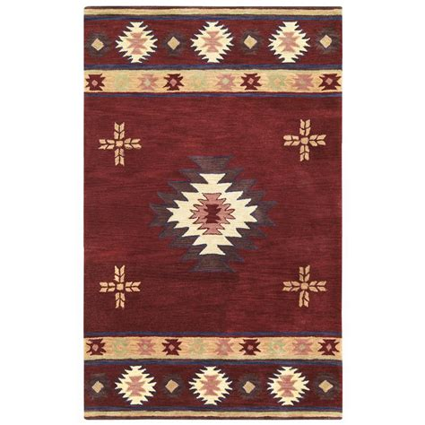 home decorators collection burgundy 3 ft x 5 ft