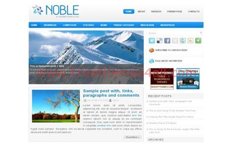 Themes Wordpress Blue | free wordpress ice theme blue blog jquery template download