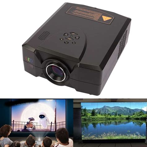 1080p led projector lcd multimedia 2 speakers audio visual