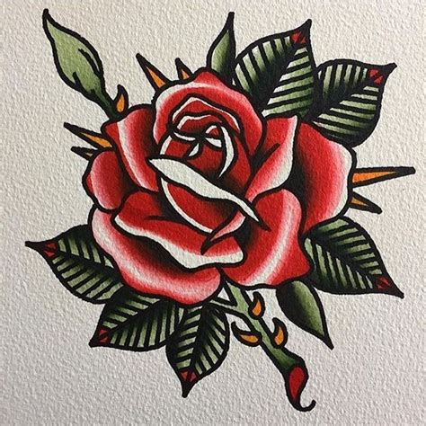 traditional rose tattoo flash 398 best images about flower on