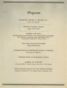 Awards Ceremony Program Template by Higgins Receives Quot E Quot Award The National Wwii Museum