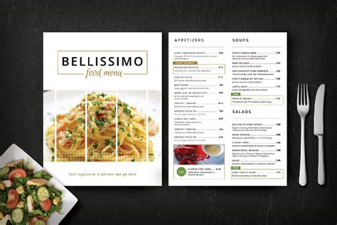 menu card template word modern clean restaurant menu template 53 free psd ai vector eps