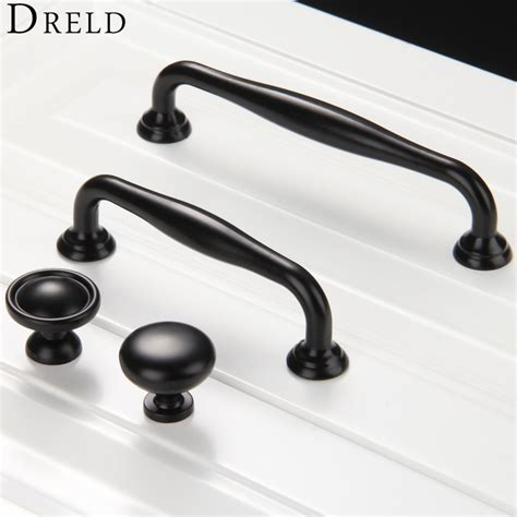 Wardrobe Knobs And Handles 1pc Furniture Knobs Black Kitchen Door Handles Cupboard