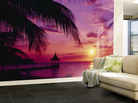Purple Living Room Wall Murals Purple Ocean Wallpaper Wall Murals For Room