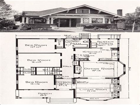 Vintage Bungalow House Plans by Vintage Craftsman House Plans Vintage Bungalow Floor Plans