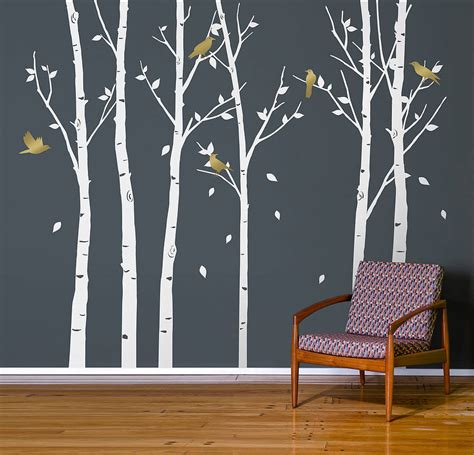 wall stickers uk forest white wall stickers by zazous
