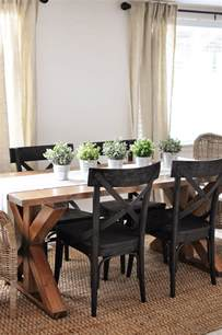 Farmhouse Dining Room x brace farmhouse table free plans cherished bliss