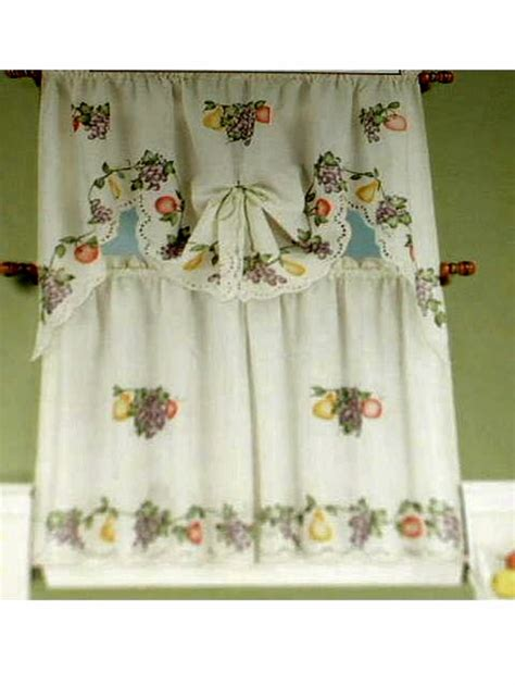 grapes apples pears fruit kitchen curtains set