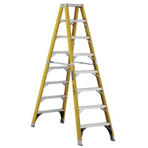 louisville ladder 8 ft fiberglass step ladder with 8