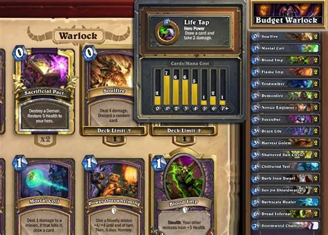 hearthstone best cheap deck hearthstone features guide crafting and deckbuilding for