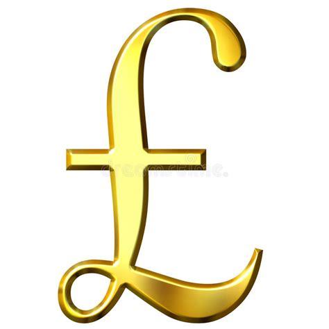 Kaos Symbol Lb 3 3d golden pound symbol stock illustration illustration of financial 9856857