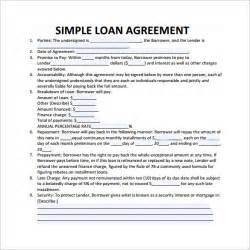 Loan Contract Template 20 Exles In Word Pdf Free Premium Templates Simple Interest Loan Template