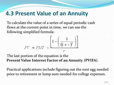 present value annuity factor formula and calculator