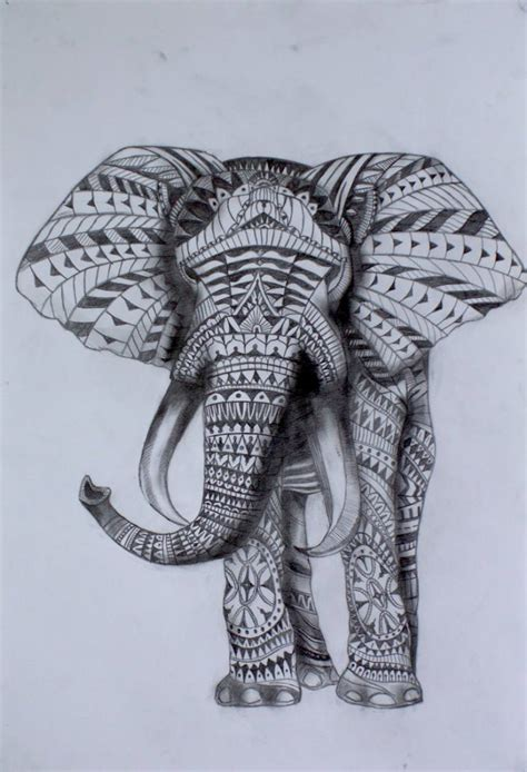saatchi art tribal elephant drawing by julian rose