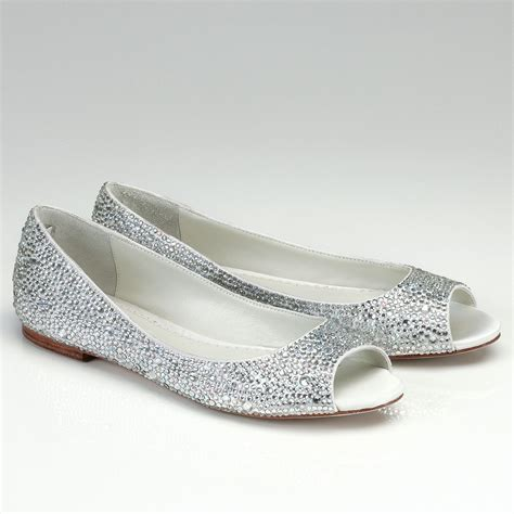 Flache Hochzeitsschuhe by Flat Wedding Shoes Open Toe Ipunya