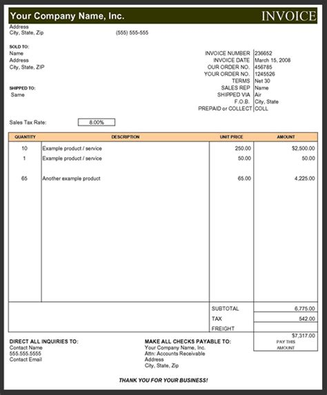 subcontractor invoice template excel invoice exle