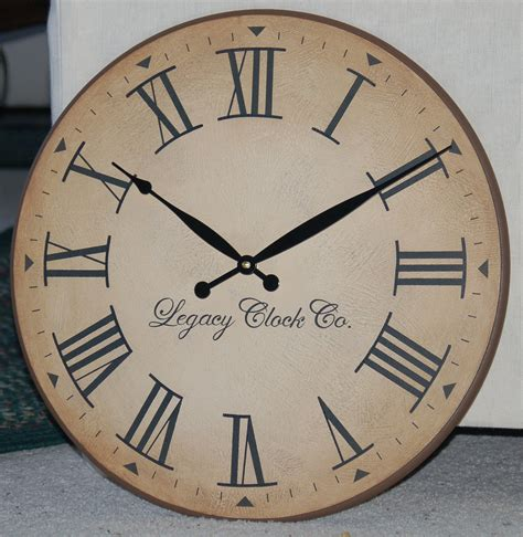 large wall clock 18 inch large wall clock antique rustic tuscan by bigclockshop