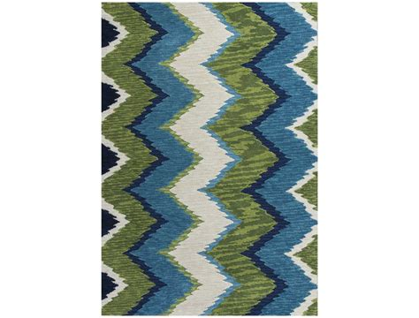 Rug Blue Green by Kas Rugs Anise Blue Green Chevron Area Rug 2420
