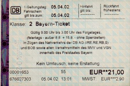bayern ticket ab wann bayernticket single automat