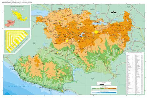 michoacan map map of michoac 225 n size