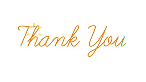 Thank You 2 thank you motion graphics flat animation available in 4k