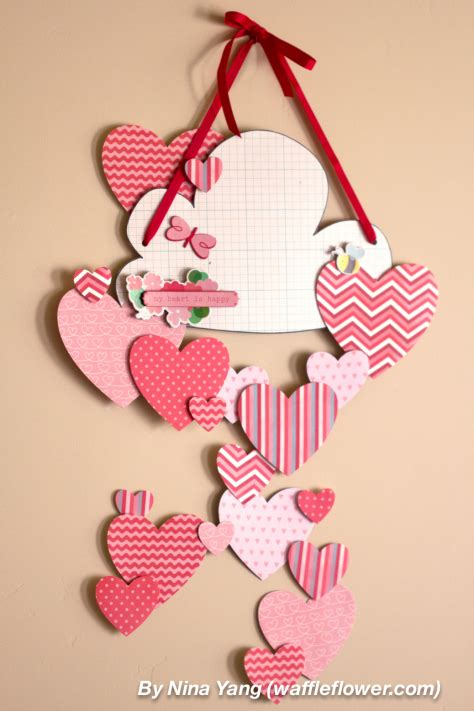 diy hearts wall decoration  valentines day shelterness
