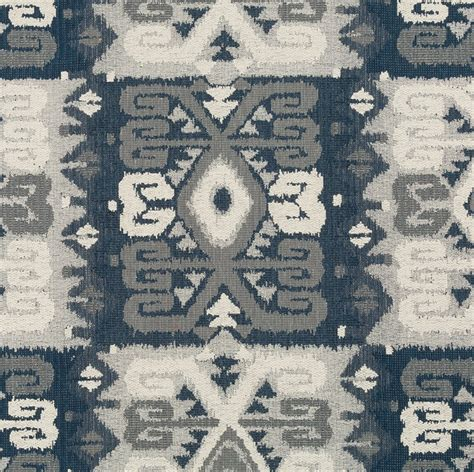 Blue And Gray Upholstery Fabric Blue Grey Tribal Upholstery Fabric Navy Blue Navajo Fabric