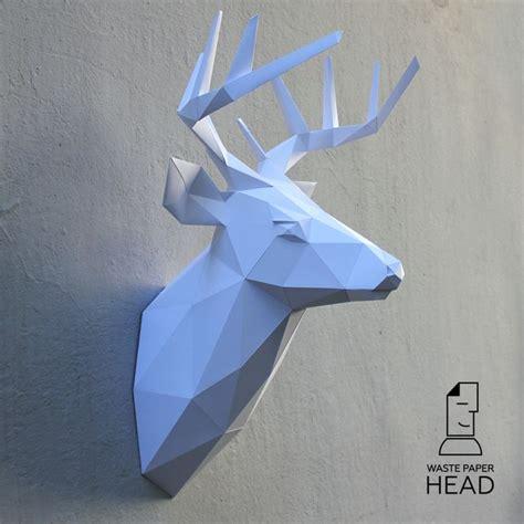 Papercraft Deer - les 55 meilleures images du tableau wastepaperhead sur