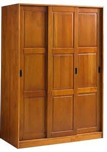 3 slide wardrobe honey pine transitional armoires and