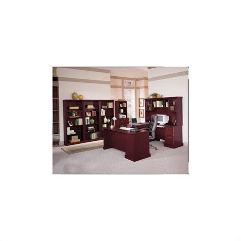 saratoga executive collection manager s desk bush saratoga 66 quot manager s desk and lateral file set in