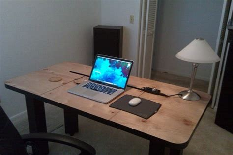 cool diy desk cool diy computer desk with cord management shelterness