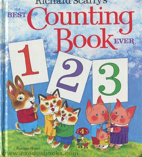 counting picture books richard scarry s best counting book exodus books