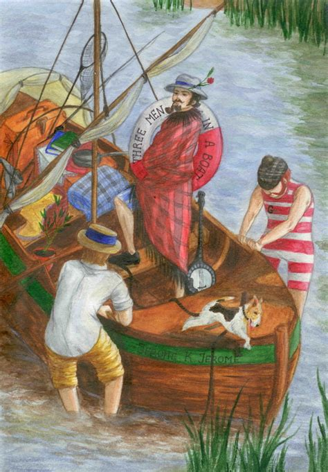 three men in a three men in a boat by anta1s on