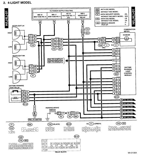 subaru headlight wiring diagram wiring diagram