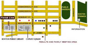 Boston Marathon Finish Line Map by Boston Marathon Course Boston Globe